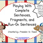 Complete Sentences, Fragments & Run-On Sentences {Common Core}