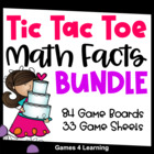 Complete Tic Tac Toe Basic Facts Board Games Collection