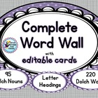 Sight Words - Word Wall (Purple) - 26 Headings Over 300 Wo