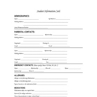Complete and Easy All in One Student Information Card