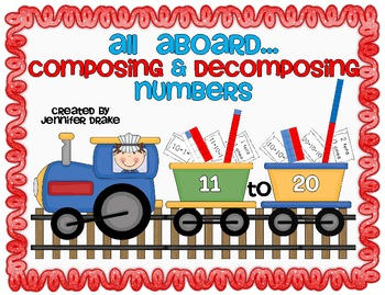 Composing & Decomposing Numbers 11-20 ~Train Version~ Supp