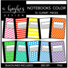 Composition Books-Color {Graphics for Commercial Use}