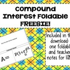 Compound Interest Foldable FREEBIE