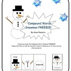 Compound Words Snowman FREEBIE!