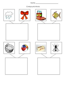 Compound Words Worksheet with Pictures