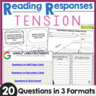 Comprehension Question Cards for Tension: 20 Questions in