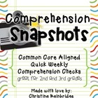 Comprehension Snapshots- Weekly Assessments and Practice C