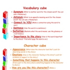 "Comprehension discussion ""cube"" cards"