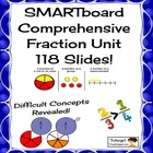 Comprehensive Smartboard Fraction Lessons Unit, 118 Slides!