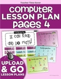 Computer Lab Lesson Plan Pages Bundle (4th Quarter)