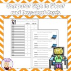 Computer Sign in Sheet with Log On Cards