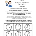 Concentration Game for Time to Hour/Half Hour- Common Core