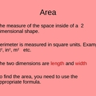 Concept of Area  (with Fractional and Decimal Lengths)