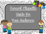 Concert Etiquette PPT - A Guide & Slide Show For Your Audience