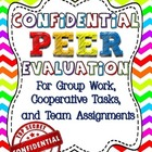 Confidential Peer Evaluation Worksheet for Group, Cooperat