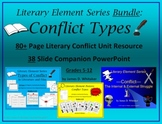 Conflict Literary Conflict Unit Resources and PowerPoint Bundle