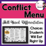 Conflict Menu Based on Bloom's Taxonomy & Common Core Aligned