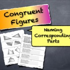 Congruent Figures Naming Corresponding Parts Geometry