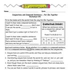 Conjunctions Worksheet Packet and Lesson Plan - 8 pages pl
