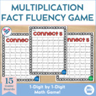 Connect Five! 1 x 1 Multiplication Fact Fluency Game 1-12!!