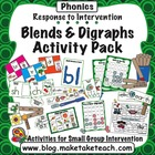 Response to Intervention- Consonant Blends and Digraphs Ac