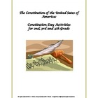 Constitution Day Activities for 2nd, 3rd and 4th Grade