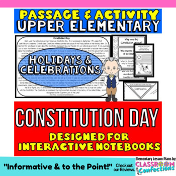 Constitution Day Passage and Activity for INTERACTIVE NOTEBOOKS