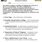 Constitution Project! - Preamble, Articles, Separation of