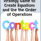 Contact! A Math Game to Practice Math Facts & Order of Operations