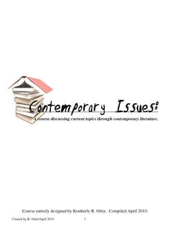 Contemporary Issues English Course for Upper Level High School