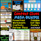 Context Clues BUNDLE (Craftivity, PowerPoint, Task Cards,