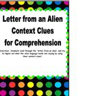 Context Clues: Letter from an Alien!