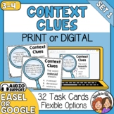 Context Clues Task Cards: 32 Cards for Grades 3-4