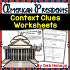 Context Clues Worksheets- American Presidents (test prep)