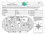 Continents and Oceans Study Sheet Collection
