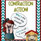 """Contraction Action"" Booklet with 7 practice sheets!"