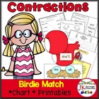 Contraction Game: Birdie Contractions Game for Literacy Ce