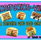Contractions Board Game (Contractionville) with Recording Sheet