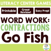 Contractions Go Fish Game with Recording Sheet