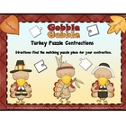 Contractions: Turkey Pilgrims / Thanksgiving Theme