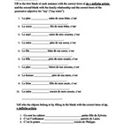 Contractions with DE + definite article in French worksheet 3