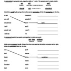 Contractions/Compound Words Worksheet 2