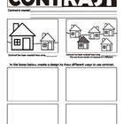 Contrast (Principles of Art/Design) Worksheet (USA spelling)