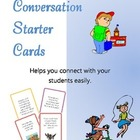 Conversation Starter Cards - character education, counseling