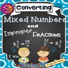 "Converting Mixed Numbers and Improper Fractions ""Tug-of-War"""