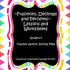 Converting and Ordering Fractions, Decimals and Percents~L