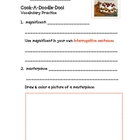 Cook-A-Doodle-Doo Vocabulary Practice (with sentence types)