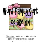 Cookie Fun with Word Families