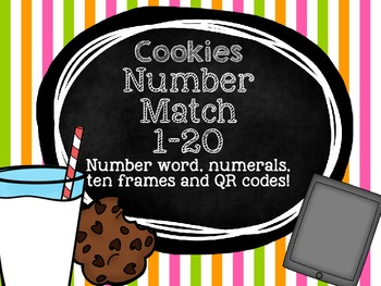 Cookie Match - Numbers, Number Words, QR Codes!
