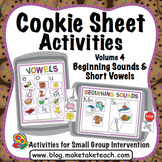 Cookie Sheet Activities Volume 4:  Beginning Sounds and Sh